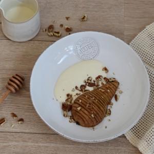 Hasselback pears recipe vegan dessert