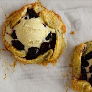 cherry galettes with icecream