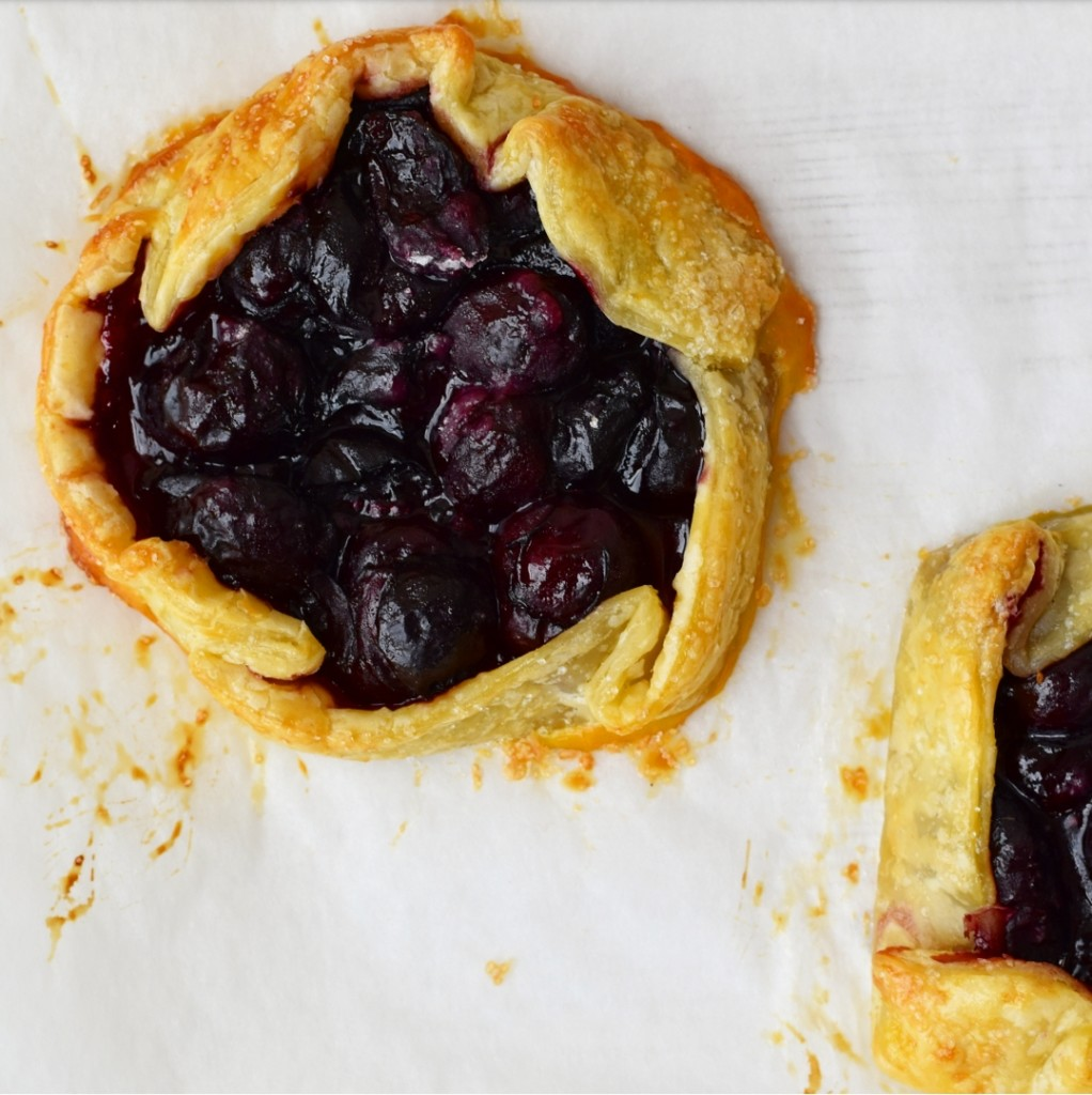 easy recipe cherry galettes