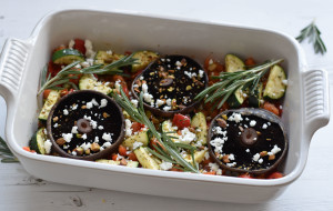 vegetable casserole portobello